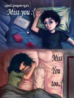 Image miss you and miss you too boy girl ,wide,wallpapers,images,pictute,photos