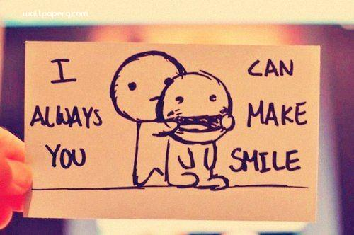 I can make you smile hd image quote ,wide,wallpapers,images,pictute,photos