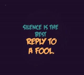 Silence is best reply to a fool motivational quote image