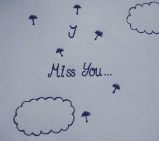 Hand written miss you image
