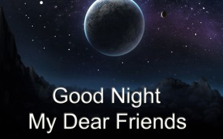 Good night dear friend quote wallpaper