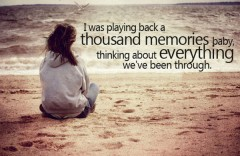 Thousand memories sad love quotes