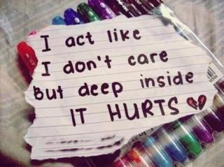 Deep inside it hurts hd quote image