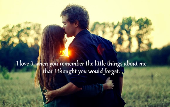 I love it when you remember couple love quote