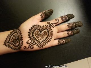 Mehandi beautiful heart design