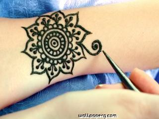 Mehndi designs of flower ,wide,wallpapers,images,pictute,photos