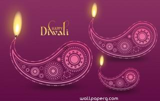 Happy diwali creative wal