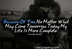 Life is more complete couple quote