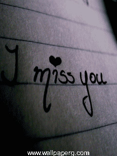 I miss you hand made pic