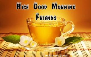Nice good morning friends image
