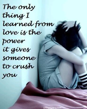 Sad girl image with quote ,wallpapers,images,