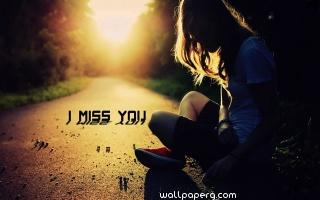 Girl miss you on lonely road