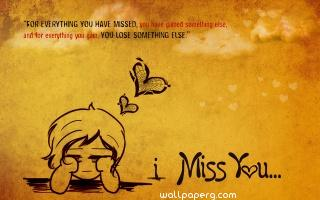 Hearttouching miss you quote