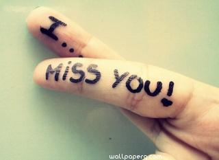 I miss you quote on fingure ,wide,wallpapers,images,pictute,photos