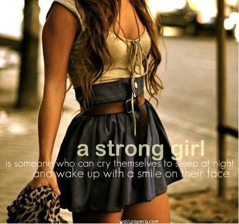 A strong girl hd wallpaper