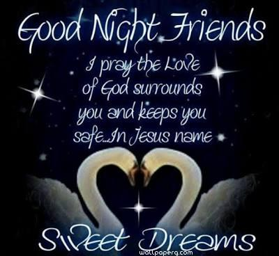 Good night friends whatsapp wallpaper