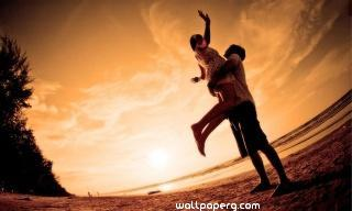 Love joy of couple hd wallpaper