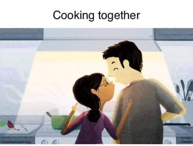 Couple cooking together ,wide,wallpapers,images,pictute,photos