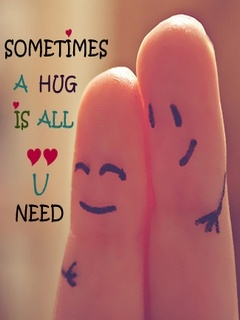 Sometime all you need is hug quote image ,wide,wallpapers,images,pictute,photos