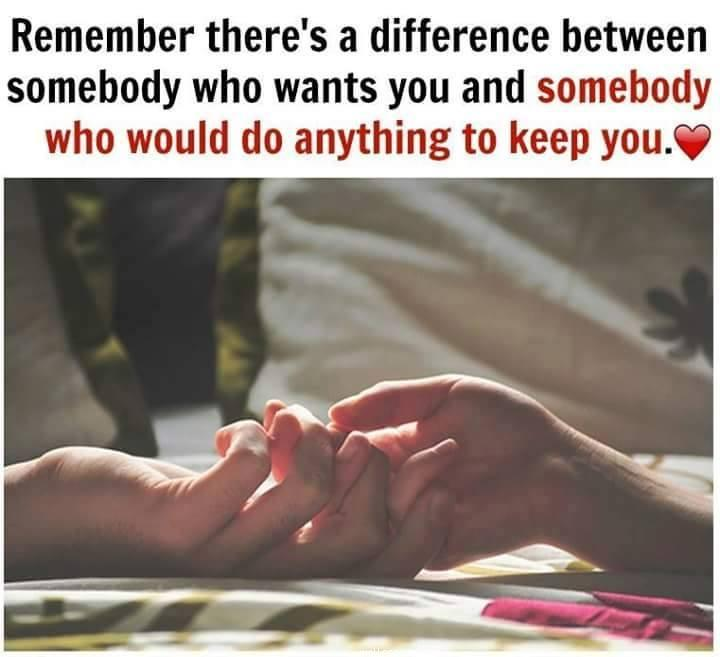 To keep relationship quot