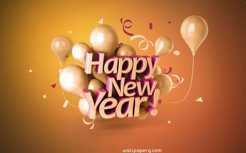 New year joy image with balloons ,wallpapers,images,