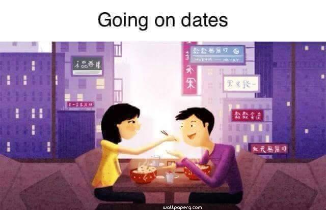 Couple going on date wallpaper
