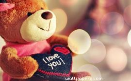I love you teddy bear ,wide,wallpapers,images,pictute,photos