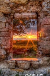 Sunset from window ,wide,wallpapers,images,pictute,photos