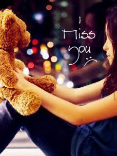 Missing you with my teddy bear ,wallpapers,images,