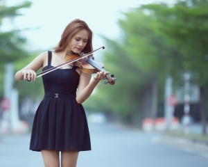 Violin girl ,wide,wallpapers,images,pictute,photos