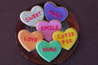 Conversation heart cookies ,wide,wallpapers,images,pictute,photos