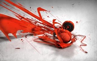 Abstract music headphones