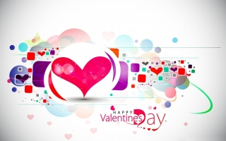 Happy valentines day creative hearts desktop background wall