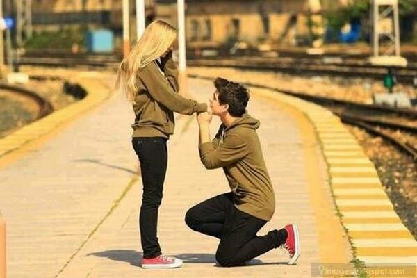 Cute boy propose girl image