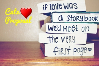 Cute love propose image quote