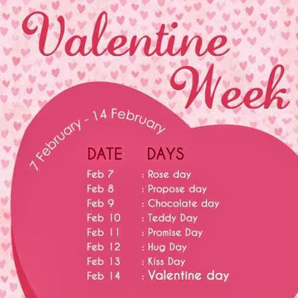 Valentines week list 2016
