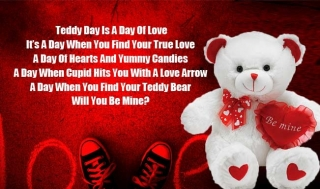 Teddy bear day heart touc