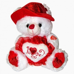 Teddy bears with heart ,wide,wallpapers,images,pictute,photos