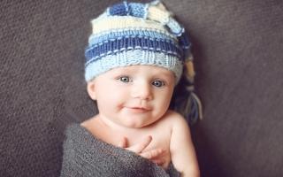 sweet baby smiling