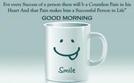 Good morning mug with smile
