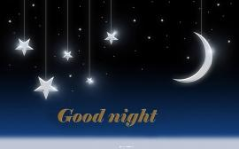Good night with stars ,wide,wallpapers,images,pictute,photos