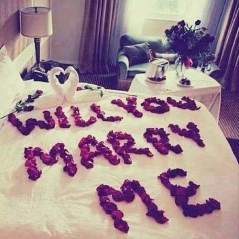Will you marry me write on bed ,wide,wallpapers,images,pictute,photos