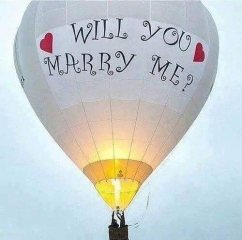 Will you marry me on hot balloon