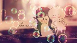 Hug me hd wallpaper