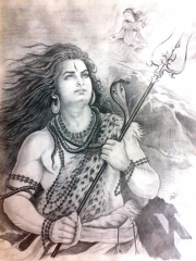 Shiv ji sketch hd wallpaper
