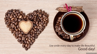 Cofee heart best morning