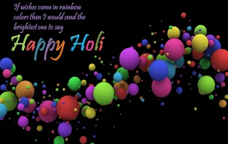 3d colorful balloons for holi