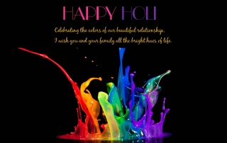 3d holi colors greetings
