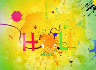 Beautiful colorful holi i