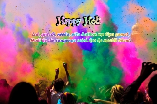 Happy holi wishes hindi quotes image ,wallpapers,images,